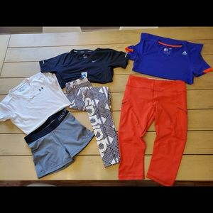3t-shirt 1 legging 1 capri 1 short
